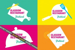 Glasgow Restaurant Festival branding and logo design