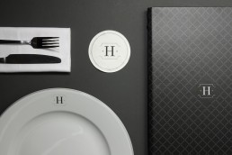 Hutchesons Bar and Restaurant branding, print and menu design