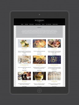 Hutchesons Bar and Restaurant branding and website design