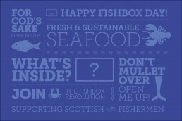Fishbox food and drink ecommerce branding and packaging design